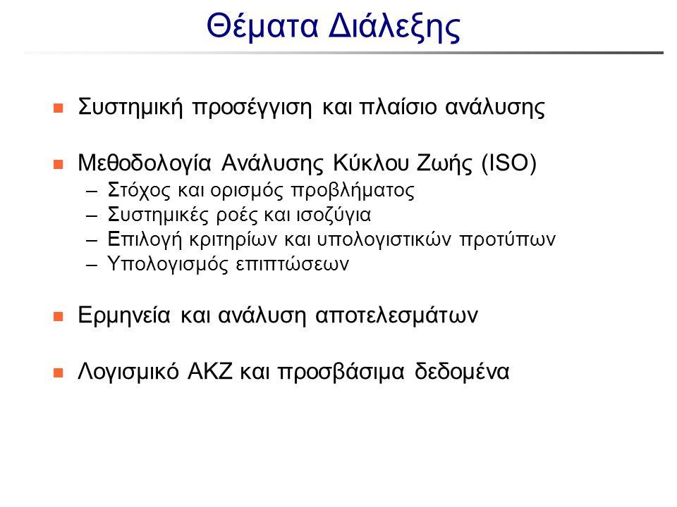 Θέματα Διάλεξης Συστημική προσέγγιση και πλαίσιο ανάλυσης