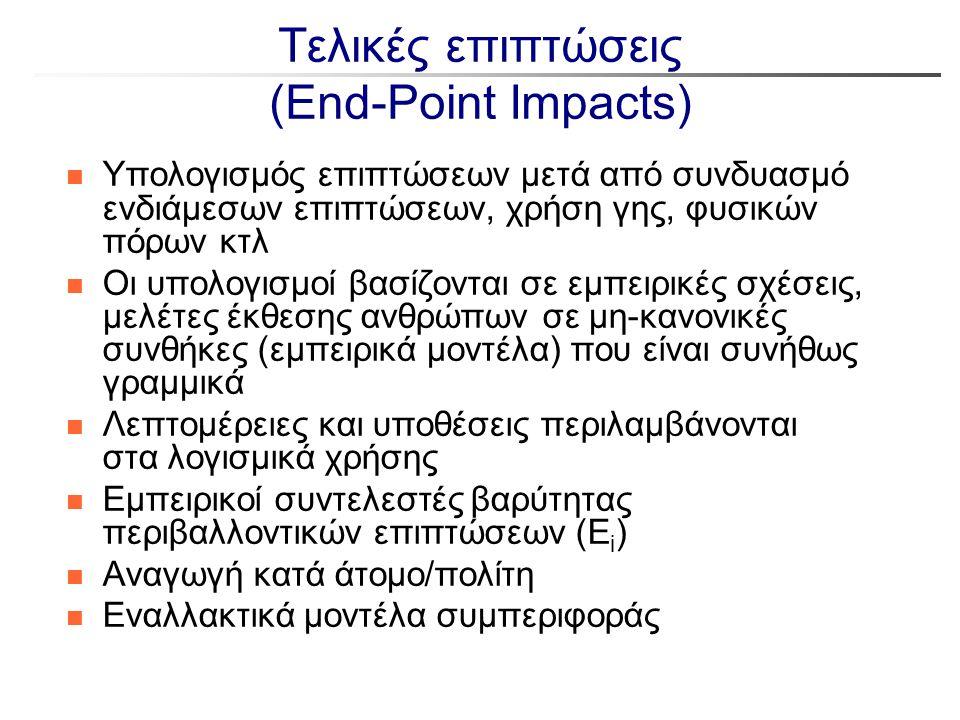 Τελικές επιπτώσεις (End-Point Impacts)