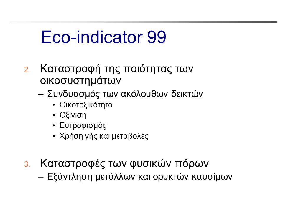 Eco-indicator 99 Καταστροφή της ποιότητας των οικοσυστημάτων