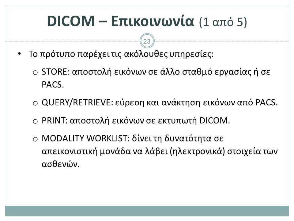 DICOM – Επικοινωνία (2 από 5)