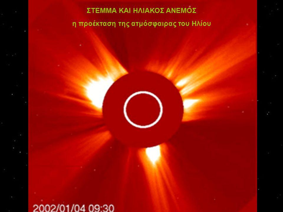 ΣΤΕΜΜΑ ΚΑΙ ΗΛΙΑΚΟΣ ΑΝΕΜΟΣ η προέκταση της ατμόσφαιρας του Ηλίου
