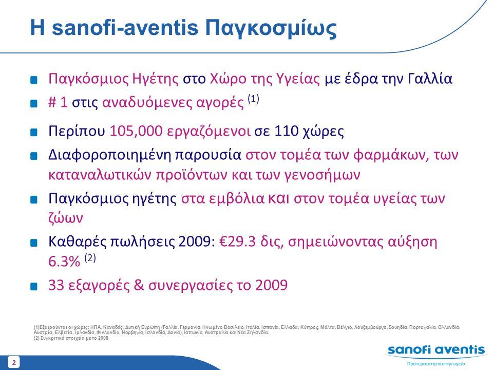 Η sanofi-aventis Παγκοσμίως
