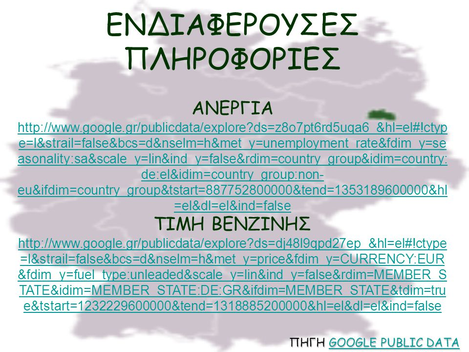 ΕΝΔΙΑΦΕΡΟΥΣΕΣ ΠΛΗΡΟΦΟΡΙΕΣ