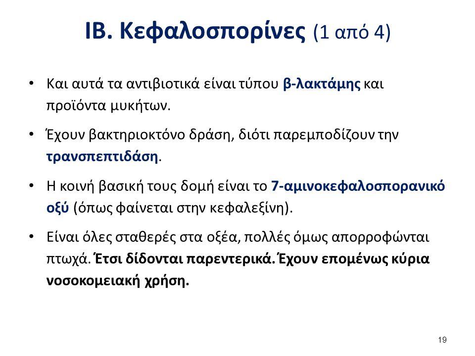 ΙΒ. Κεφαλοσπορίνες (2 από 4)