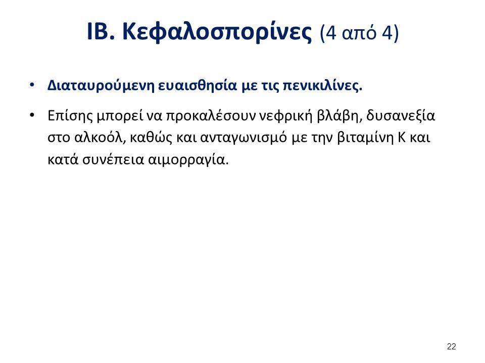 ΙΓ. Βακιτρακίνη και βανκομυκίνη