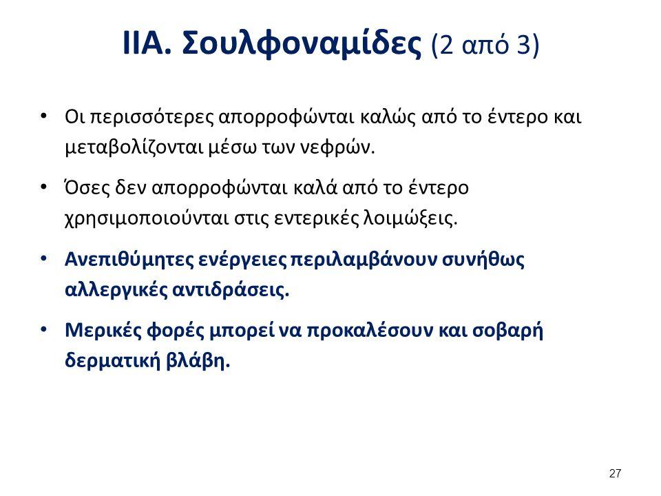 ΙΙΑ. Σουλφοναμίδες (3 από 3)