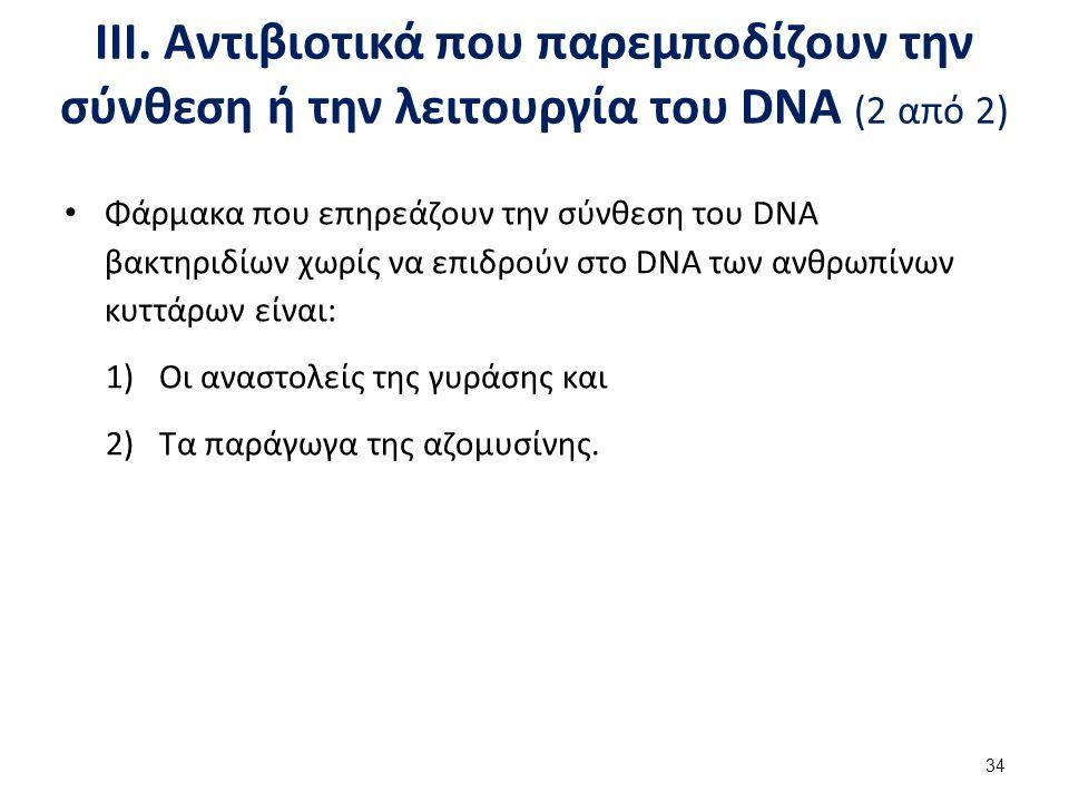 ΙΙΙΑ. Οι αναστολείς της γυράσης (1 από 2)