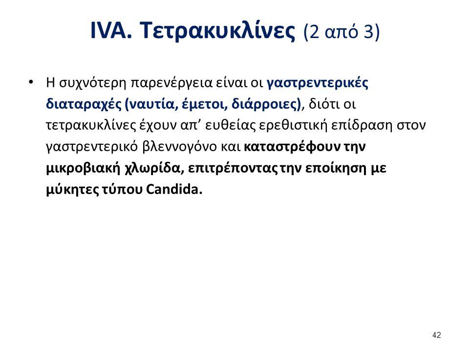 IVA. Τετρακυκλίνες (3 από 3)