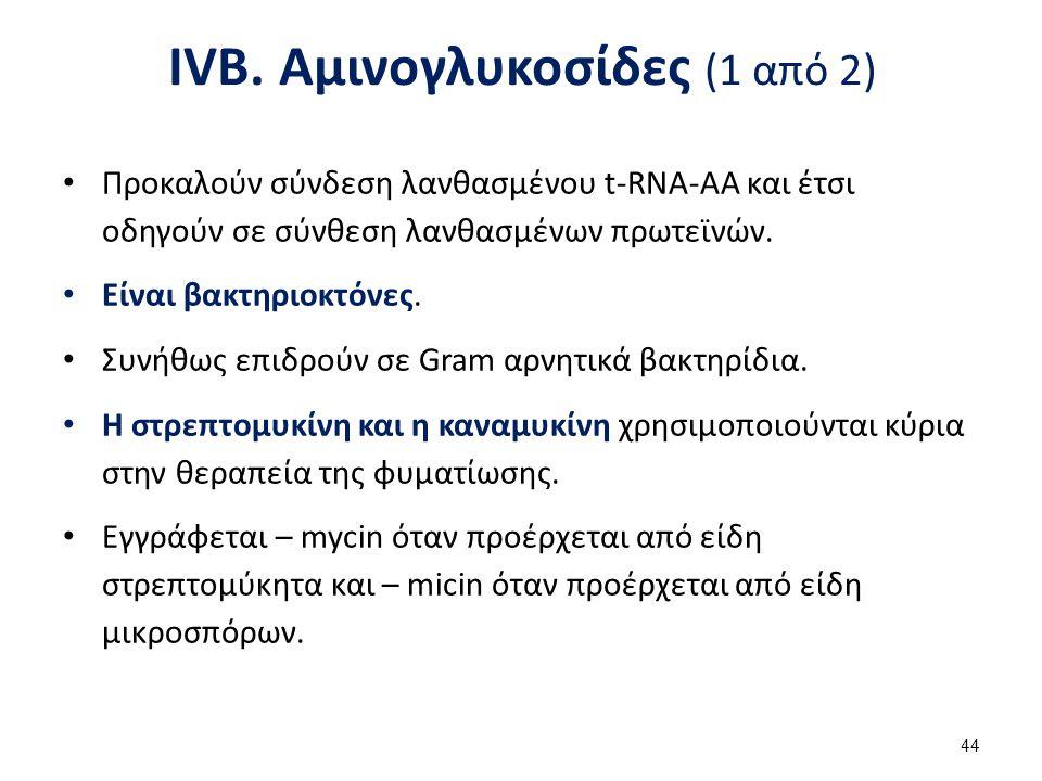IVB. Αμινογλυκοσίδες (2 από 2)