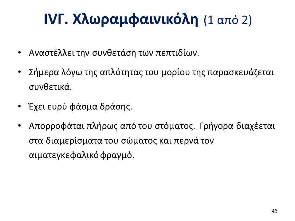 IVΓ. Χλωραμφαινικόλη (2 από 2)