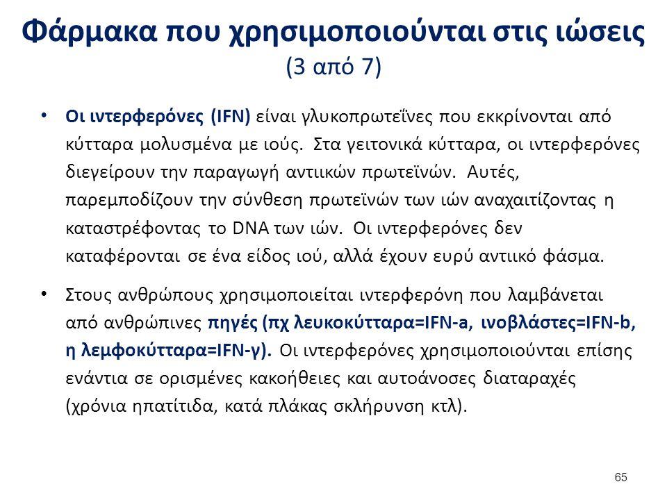 Φάρμακα που χρησιμοποιούνται στις ιώσεις (4 από 7)