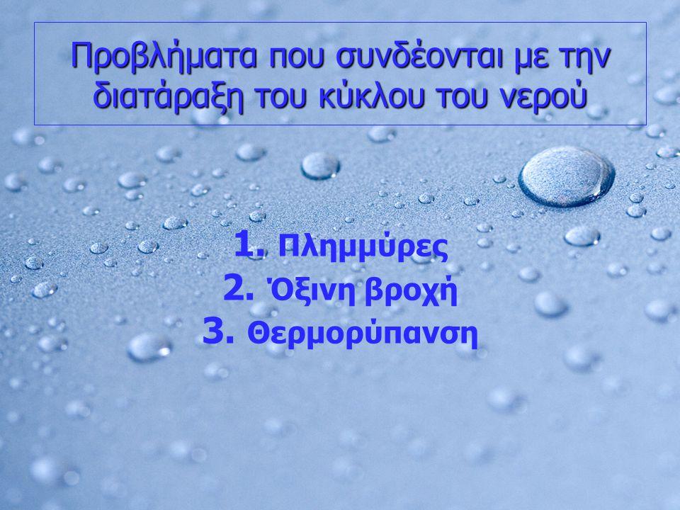 Προβλήματα που συνδέονται με την διατάραξη του κύκλου του νερού