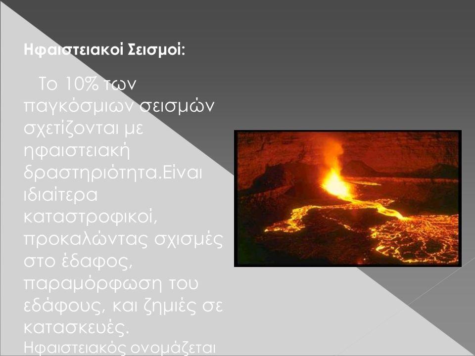 Ηφαιστειακοί Σεισμοί: