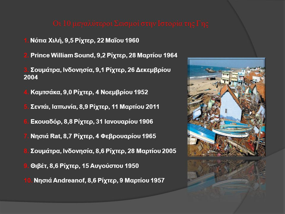 Οι 10 μεγαλύτεροι Σεισμοί στην Ιστορία της Γης