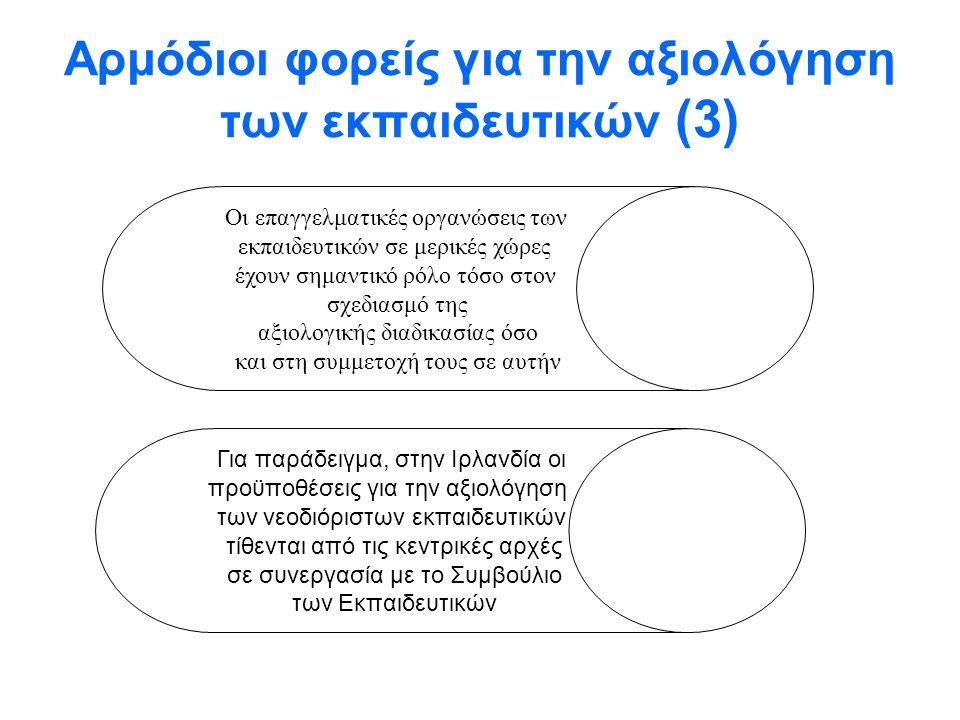 Αρμόδιοι φορείς για την αξιολόγηση των εκπαιδευτικών (3)