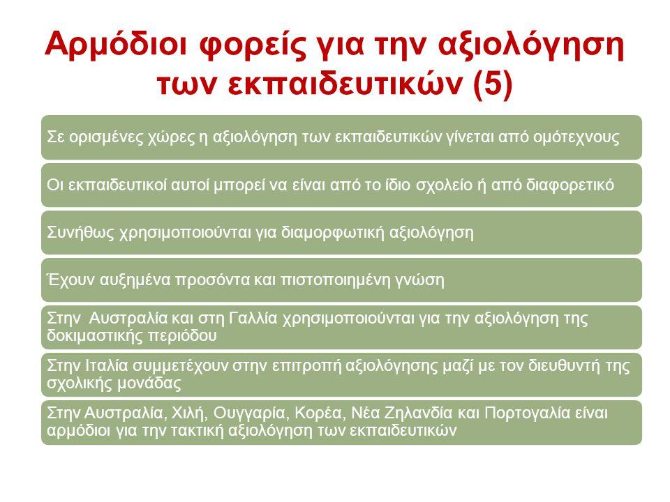 Αρμόδιοι φορείς για την αξιολόγηση των εκπαιδευτικών (5)