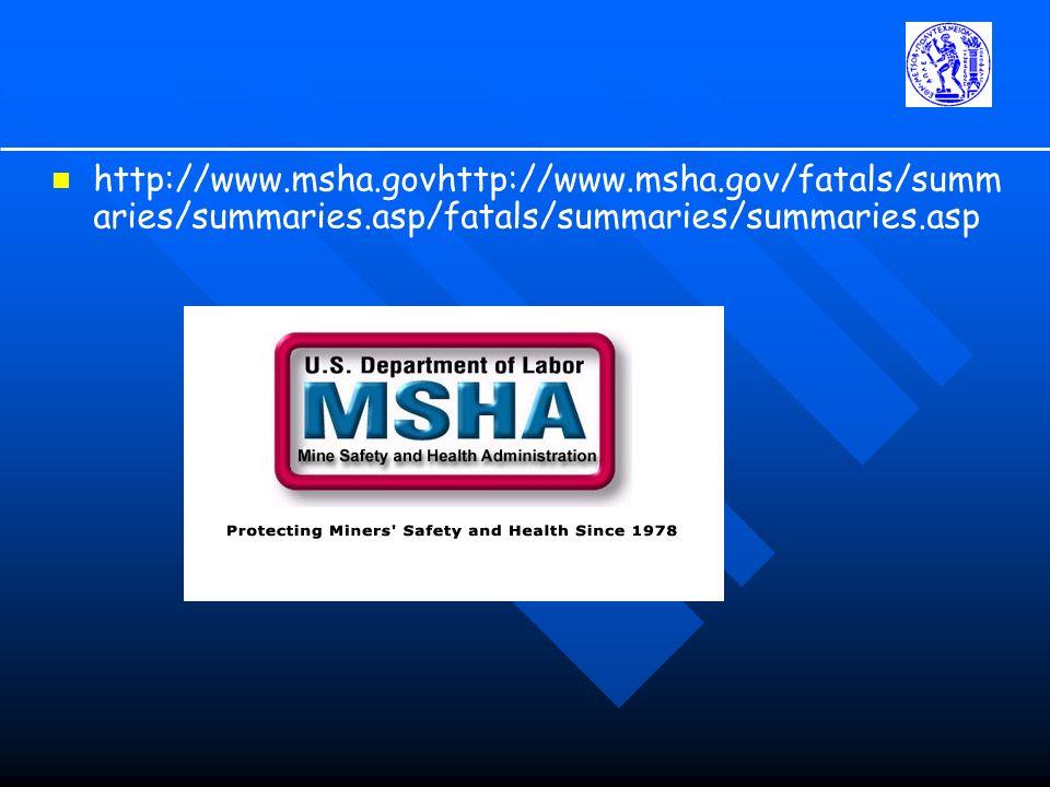 http://www. msha. govhttp://www. msha. gov/fatals/summaries/summaries