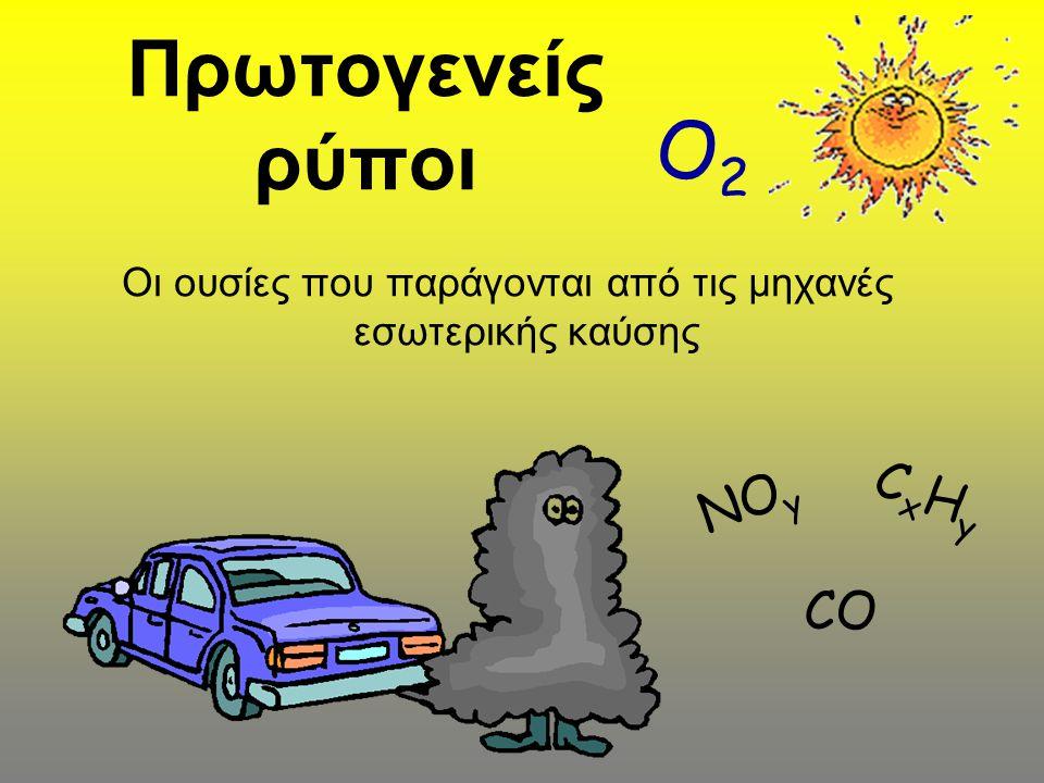 Οι ουσίες που παράγονται από τις μηχανές εσωτερικής καύσης