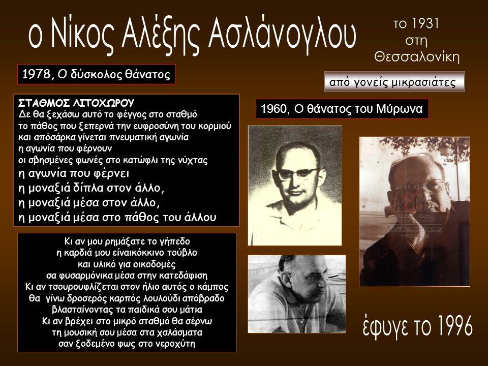 ο Νίκος Αλέξης Ασλάνογλου το 1931 στη Θεσσαλονίκη