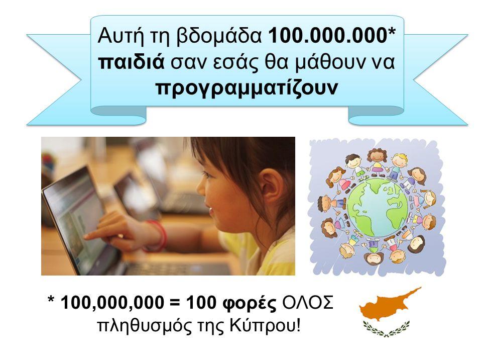 * 100,000,000 = 100 φορές ΟΛΟΣ ο πληθυσμός της Κύπρου!