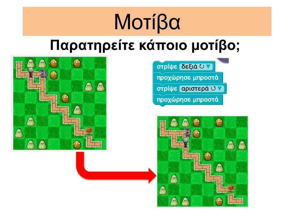 Παρατηρείτε κάποιο μοτίβο;