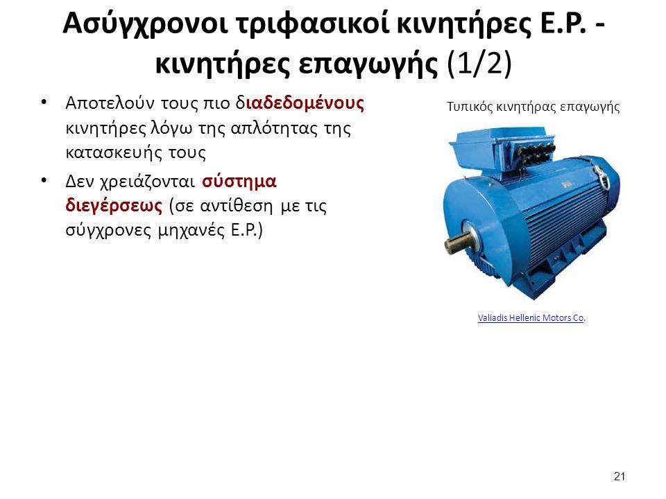Ασύγχρονοι τριφασικοί κινητήρες Ε.Ρ. - κινητήρες επαγωγής (2/2)