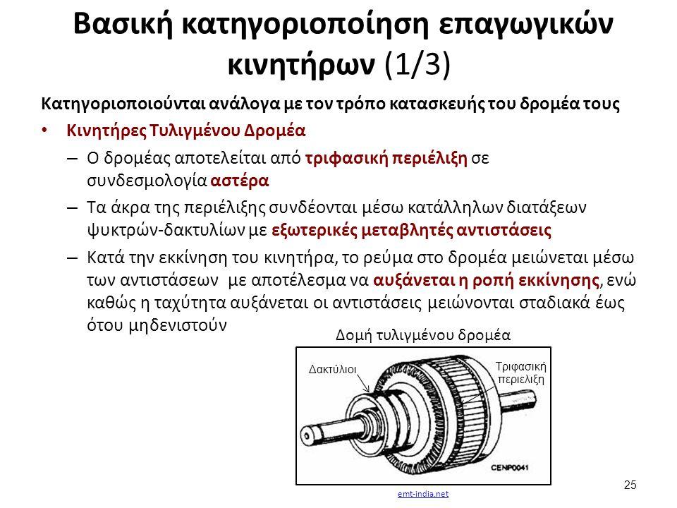 Βασική κατηγοριοποίηση επαγωγικών κινητήρων (2/3)