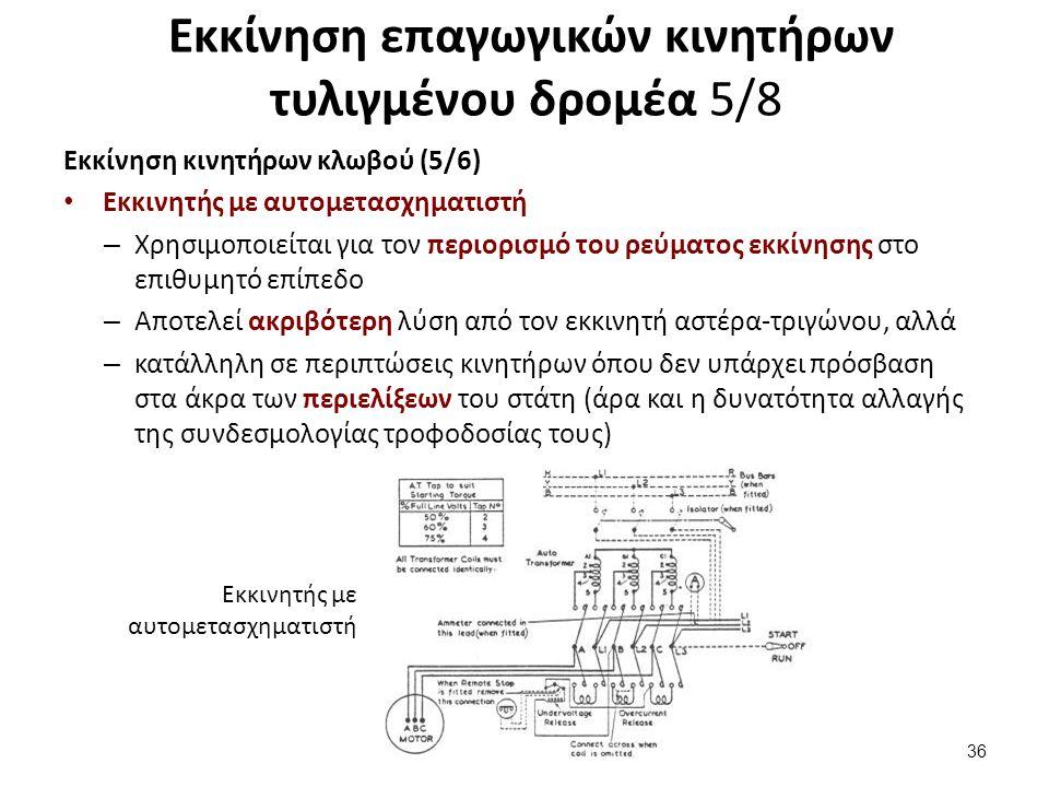 Εκκίνηση επαγωγικών κινητήρων τυλιγμένου δρομέα 6/8