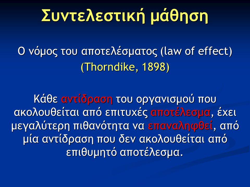Ο νόμος του αποτελέσματος (law of effect)
