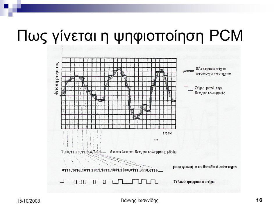 Πως γίνεται η ψηφιοποίηση PCM