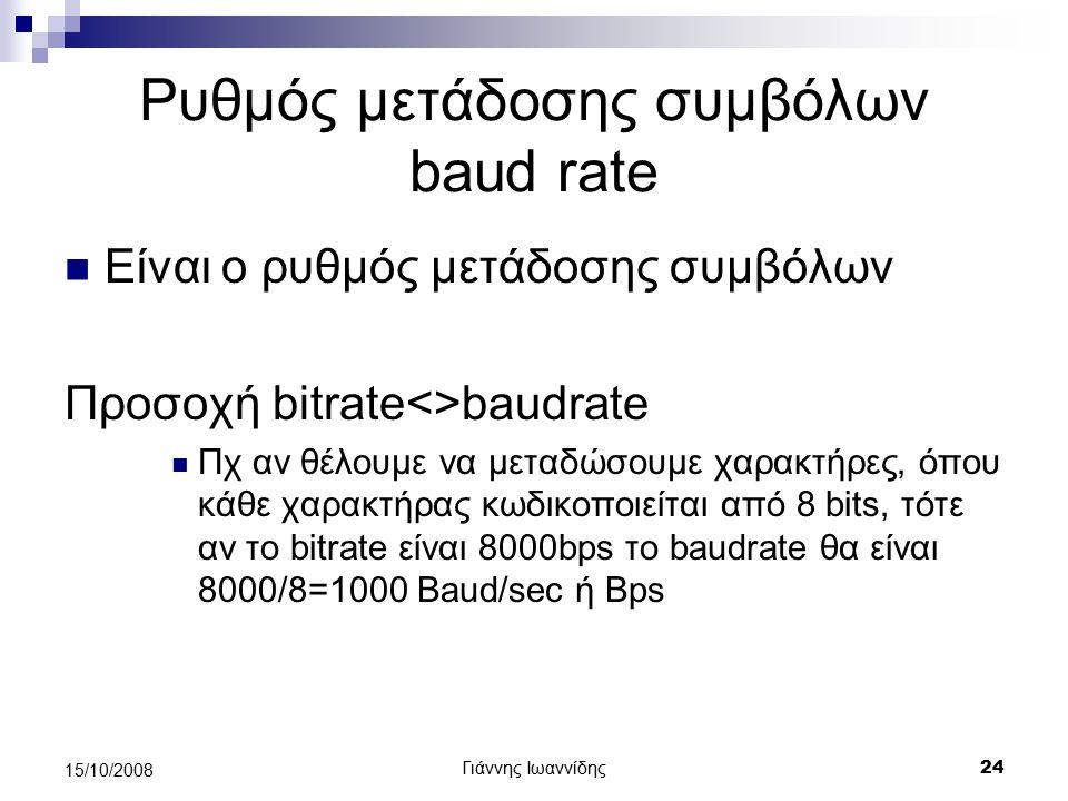 Ρυθμός μετάδοσης συμβόλων baud rate