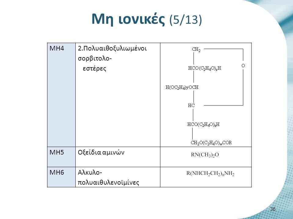 Μη ιονικές (6/13) 𝑹𝑪𝑶𝑵𝑯𝑪𝑯 𝟐 𝑪𝑯 𝟐 𝑶𝑯 (ΜΗ1.1)