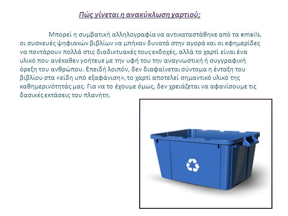 Πώς γίνεται η ανακύκλωση χαρτιού;