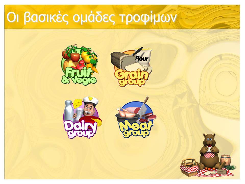 Οι βασικές ομάδες τροφίμων