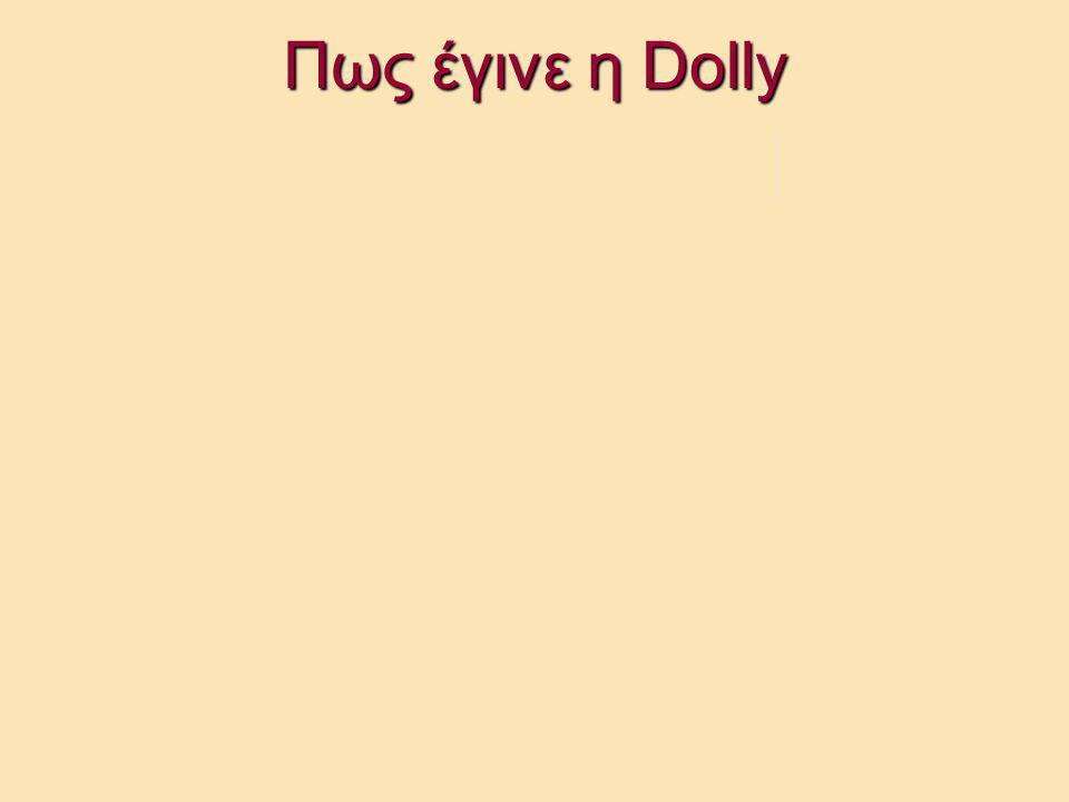 Πως έγινε η Dolly Dolly, κλώνος του Α Μετά από 3-4