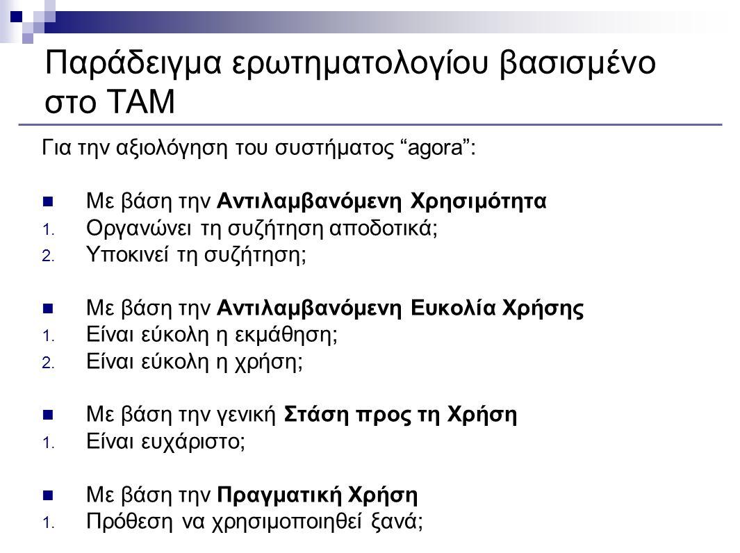 Παράδειγμα ερωτηματολογίου βασισμένο στο TAM