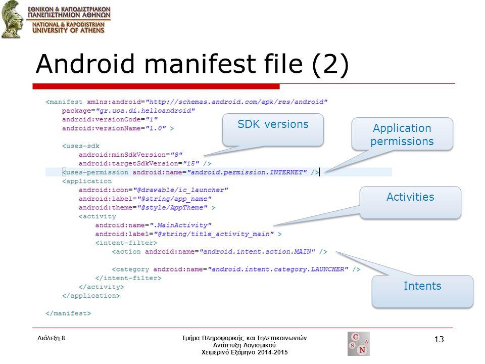 Android manifest file (2)