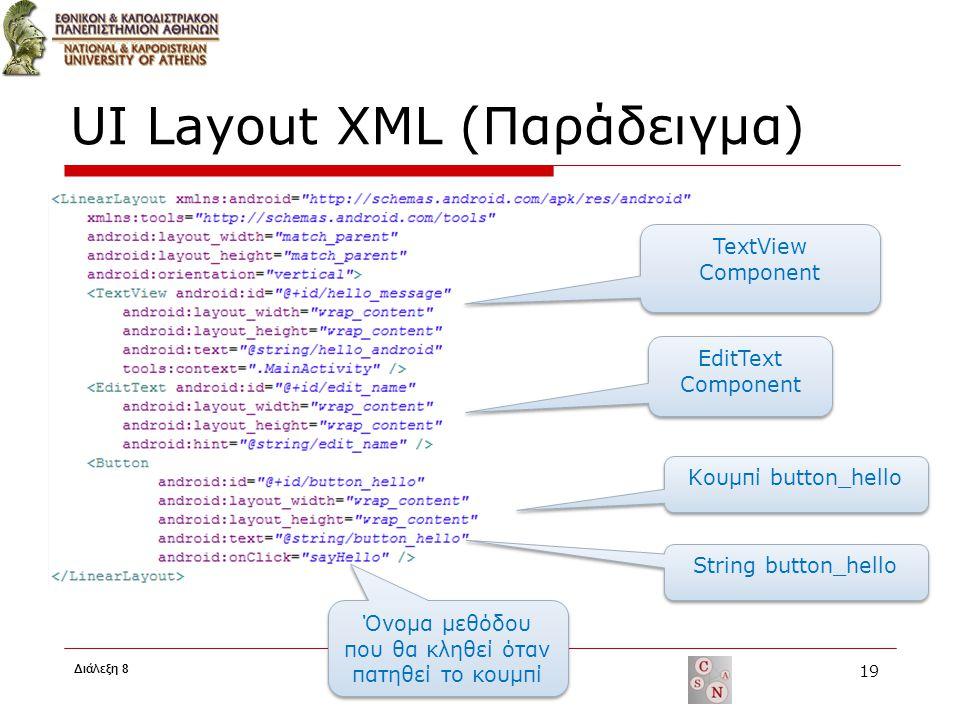 UI Layout XML (Παράδειγμα)