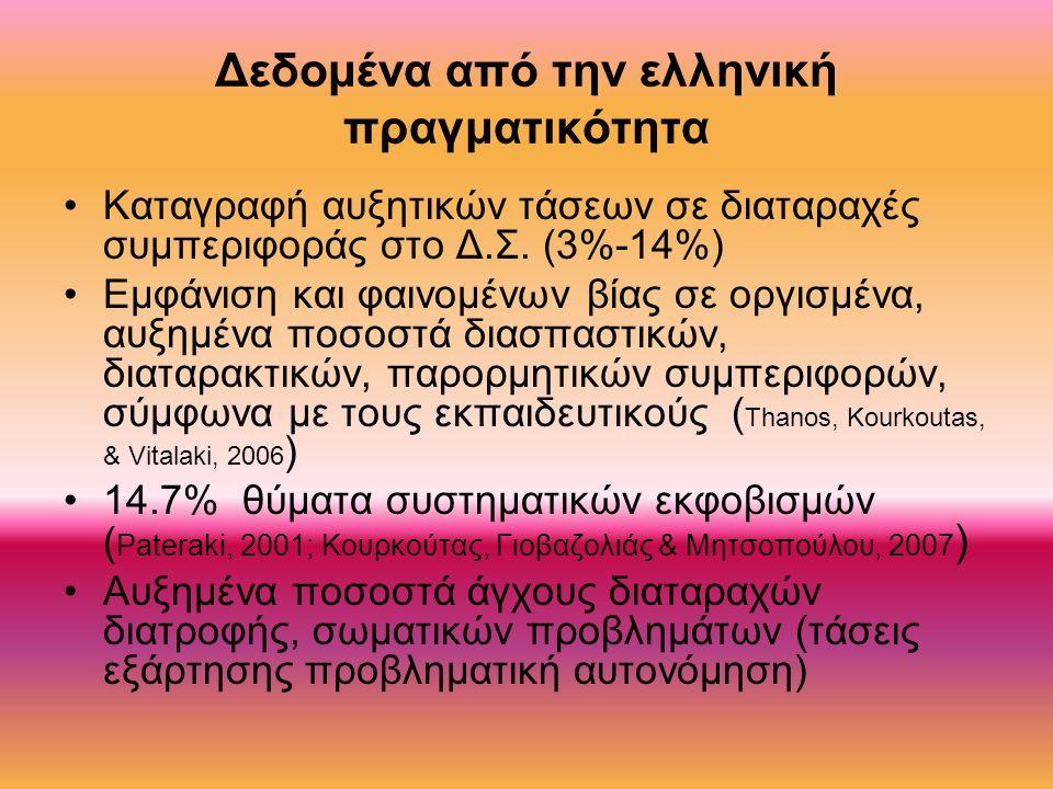 Δεδομένα από την ελληνική πραγματικότητα