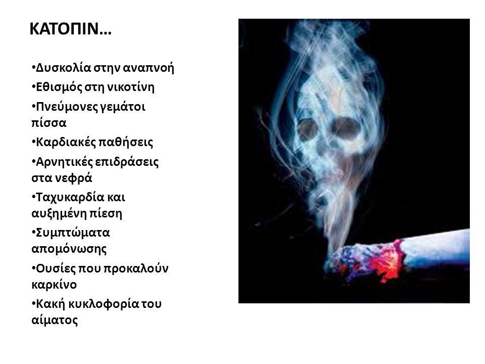 ΚΑΤΟΠΙΝ… Δυσκολία στην αναπνοή Εθισμός στη νικοτίνη