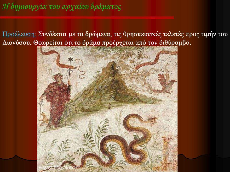Η δημιουργία του αρχαίου δράματος