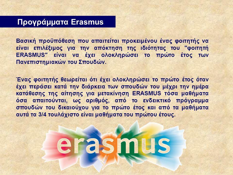 Προγράμματα Erasmus.