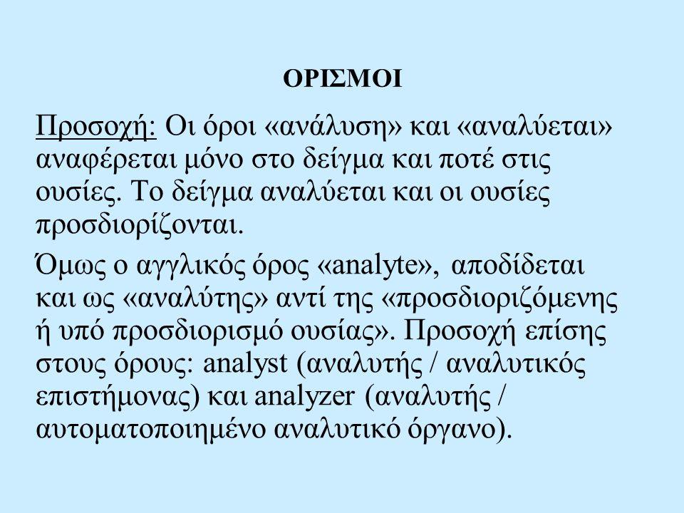 ΟΡΙΣΜΟΙ
