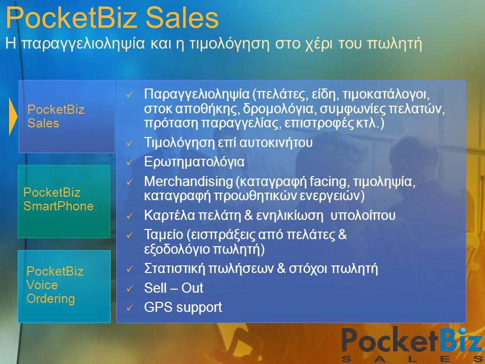 PocketBiz Sales Η παραγγελιοληψία και η τιμολόγηση στο χέρι του πωλητή