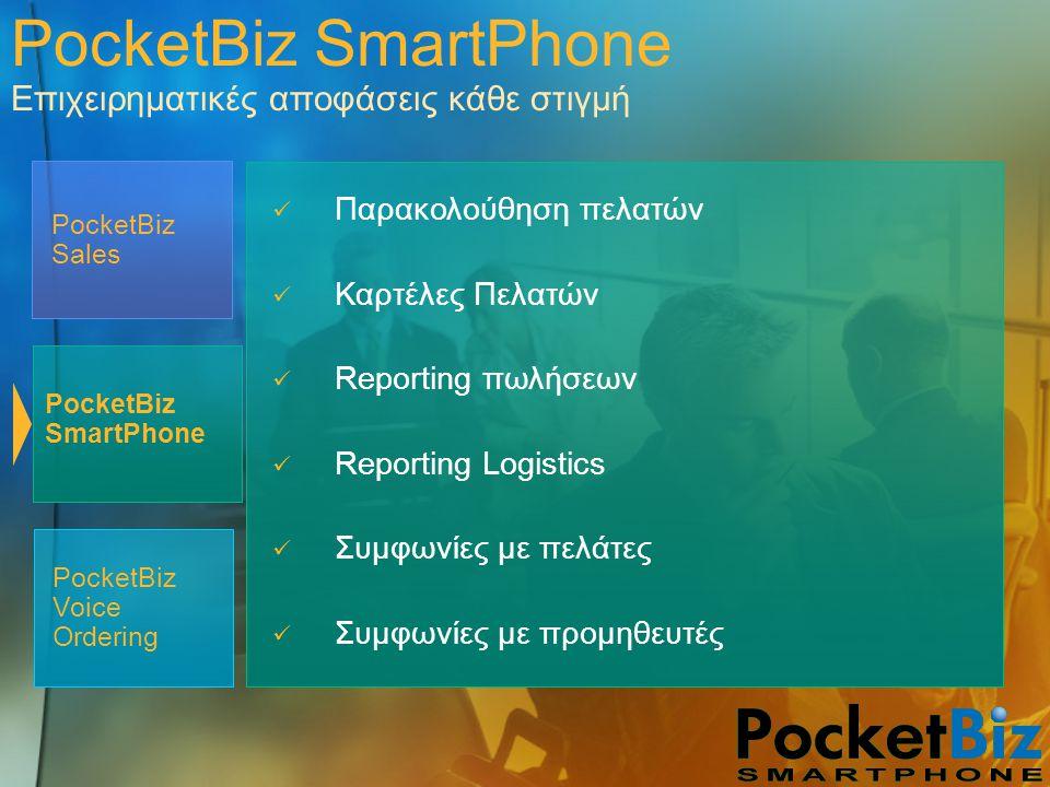 PocketBiz SmartPhone Επιχειρηματικές αποφάσεις κάθε στιγμή