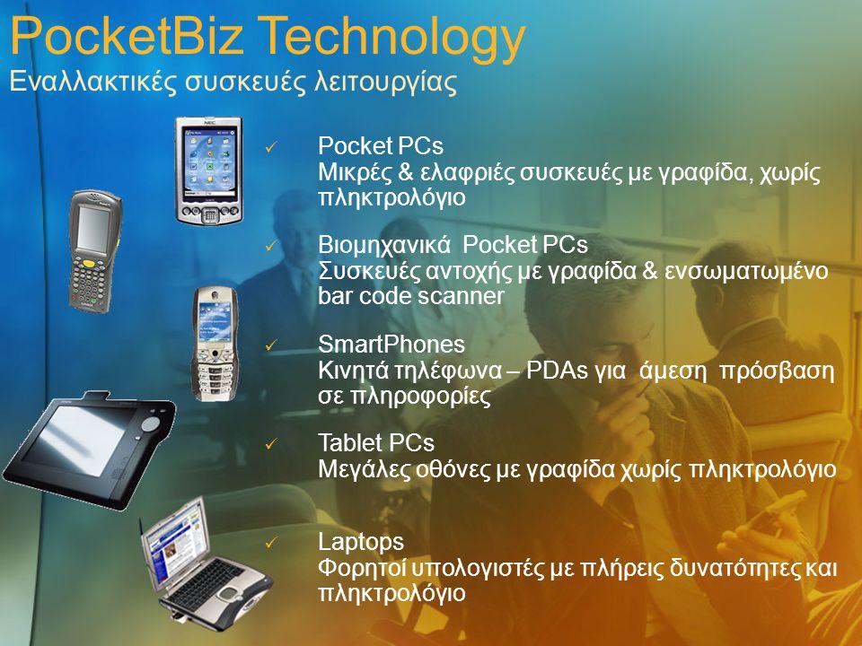 PocketBiz Technology Εναλλακτικές συσκευές λειτουργίας
