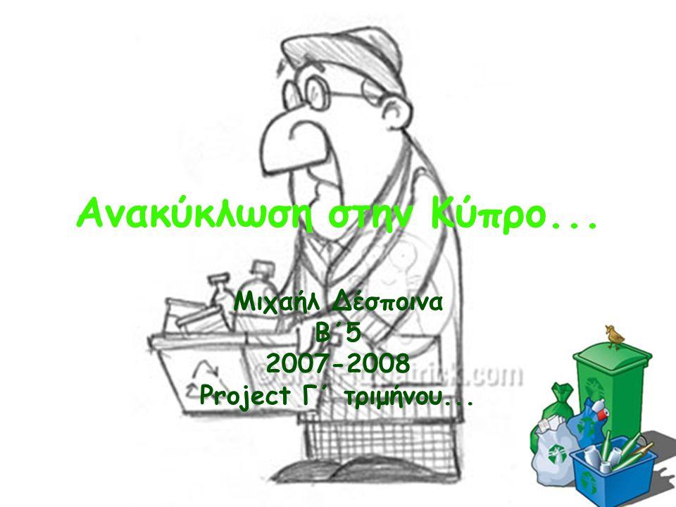 Μιχαήλ Δέσποινα Β΄5 2007-2008 Project Γ΄ τριμήνου...