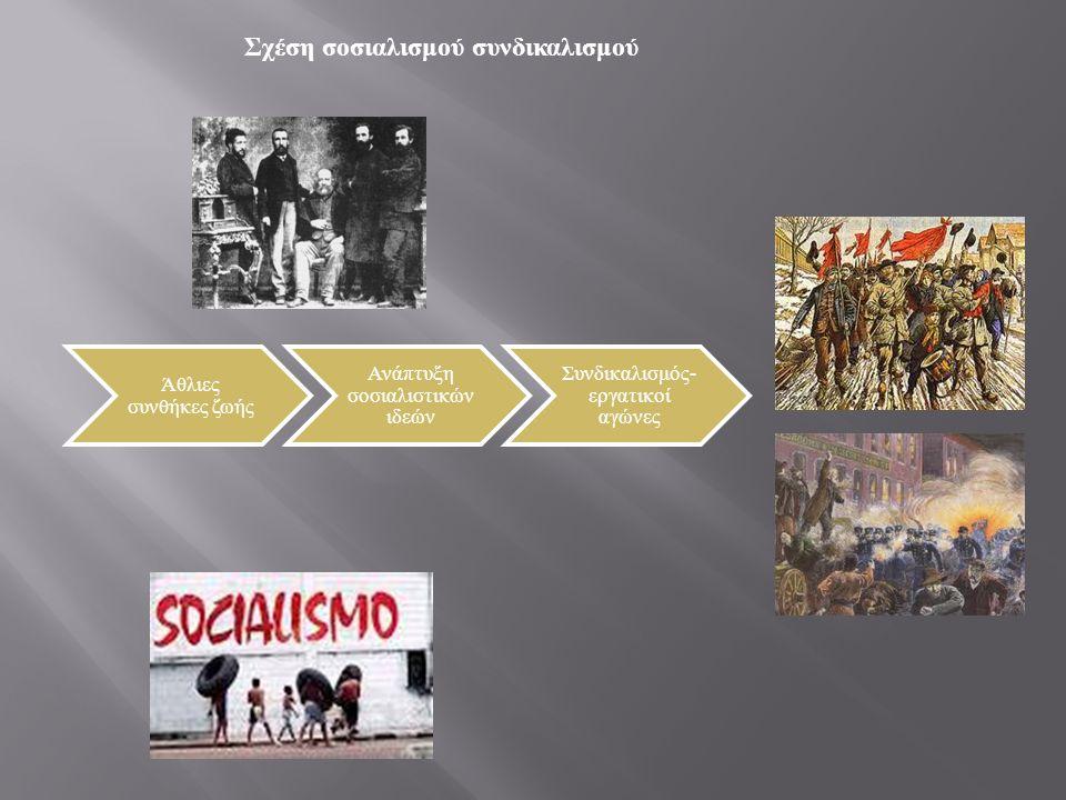 Σχέση σοσιαλισμού συνδικαλισμού