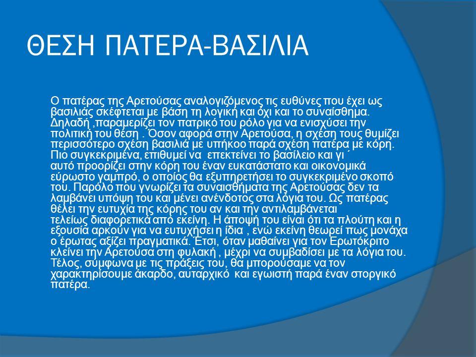 ΘΕΣΗ ΠΑΤΕΡΑ-ΒΑΣΙΛΙΑ