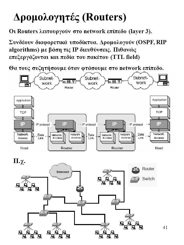 Δρομολογητές (Routers)